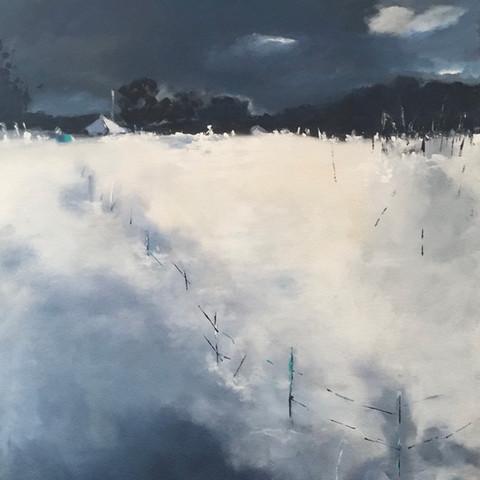 Winternacht (100x80cm)
