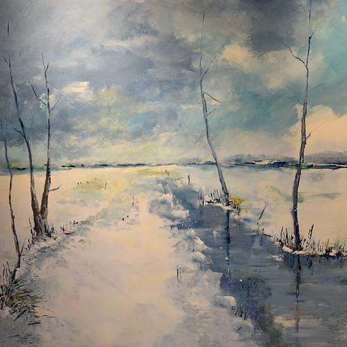 Stille Wasser (Acryl auf Leinwand, 100x100cm)