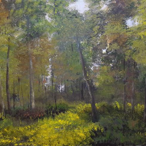 Waldlichtung (Acryl auf Leinwand, 80x60cm)