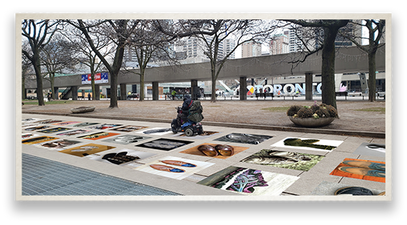 Mock-up of Original Exhibition at Nathan Phillips Square