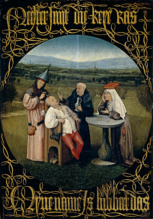 Extracting the Stone of Madness  c.1494–1516, oil on panel by Hieronymus Bosch (c.1450–1516)
