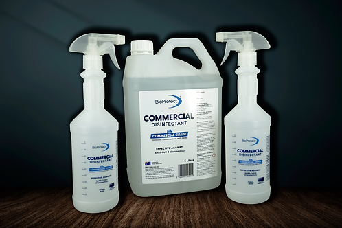BioProtect * Commercial Grade Surface Spray Disinfectant - 5L + 2 Spray Bottles