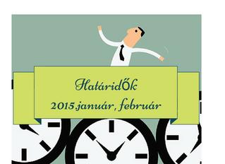 Fontos határidők 2015-ben