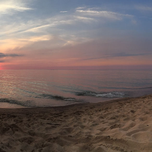 Sunset glory on beach