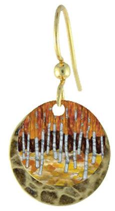 Birch Tree Painted Earrings