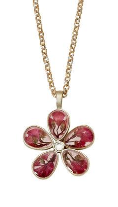 "Shari Dixon Coral Bell 5 Petal Flower 16"" Adj. Necklace"