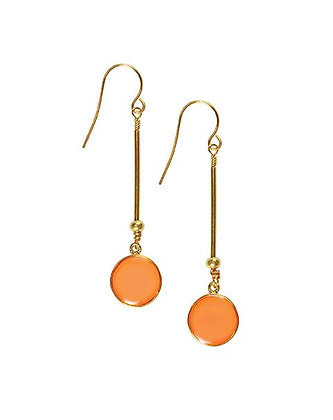 Shari Dixon Small Round Long Nectarine Earrings