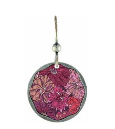 Magenta Floral Earrings