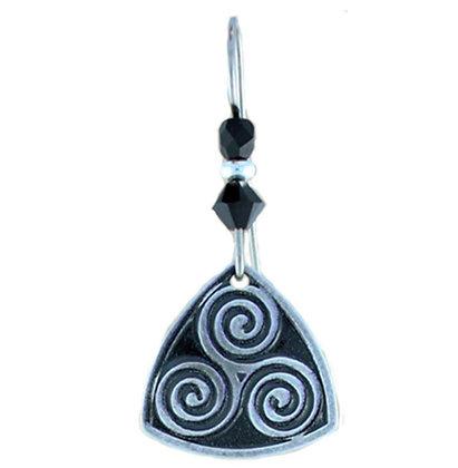 Eternity Swirls Earrings with Swarovski Crystals