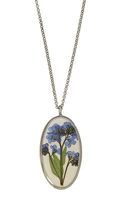 Shari Dixon Forget Me Not Large Oval Necklace