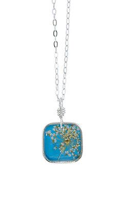 Shari Dixon Laceflower Belize Breeze Small Square Necklace