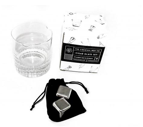 Whiskey Cigar Glass Set