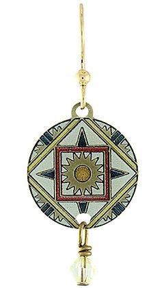 Compass Mandala Earrings with Swarovski Crystal