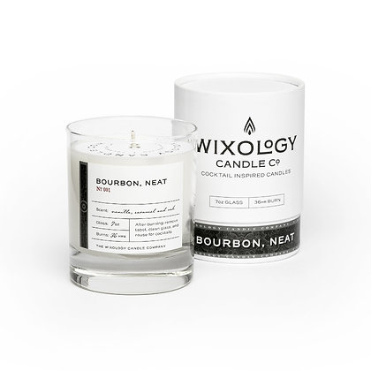 Bourbon Neat Candle by Wixology