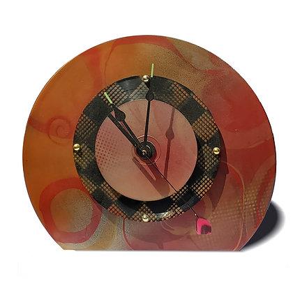 Deborah Dickinson Desk Clock with Feather Second Hand