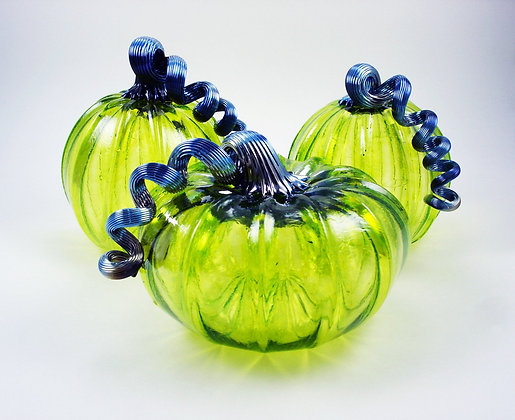 Glass Pumpkin (Lime)