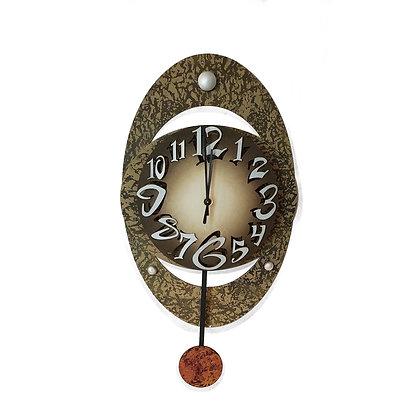 David Scherer Oval Wall Clock