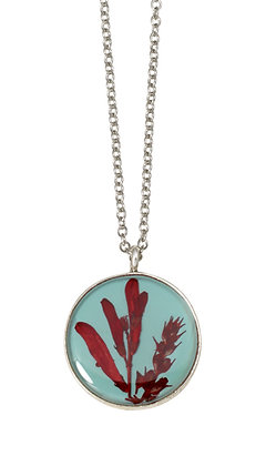 Shari Dixon Scarlet Gilia on Robin Small Round Necklace