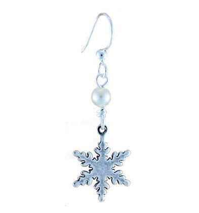 Dangling Snowflake Earrings