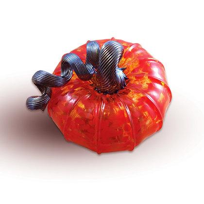 Mini Glass Pumpkin (Red Jack)
