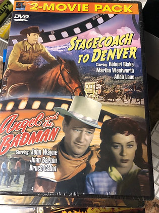 DVD Stagecoach to Denver & Angel and the Badman