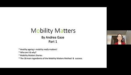Mobility Matters Part 1