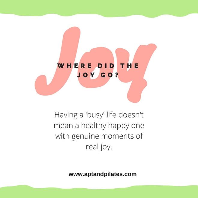 Where did the joy go?