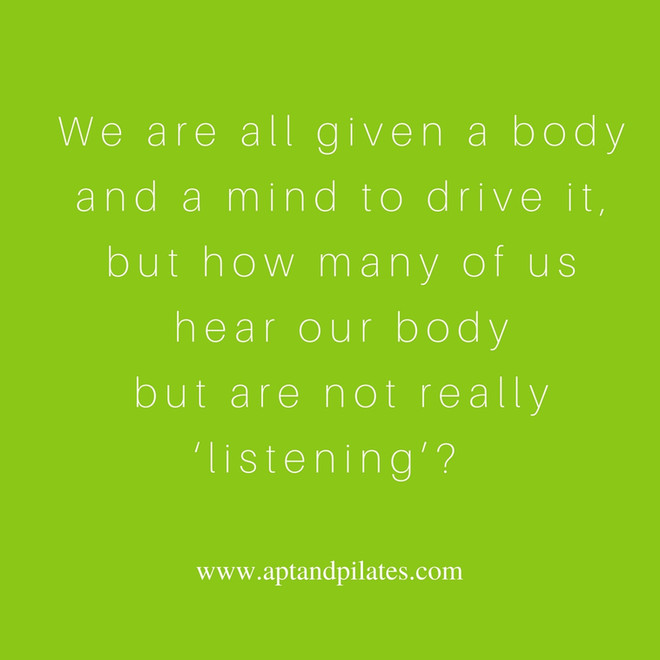 Are you really 'listening' to your body?