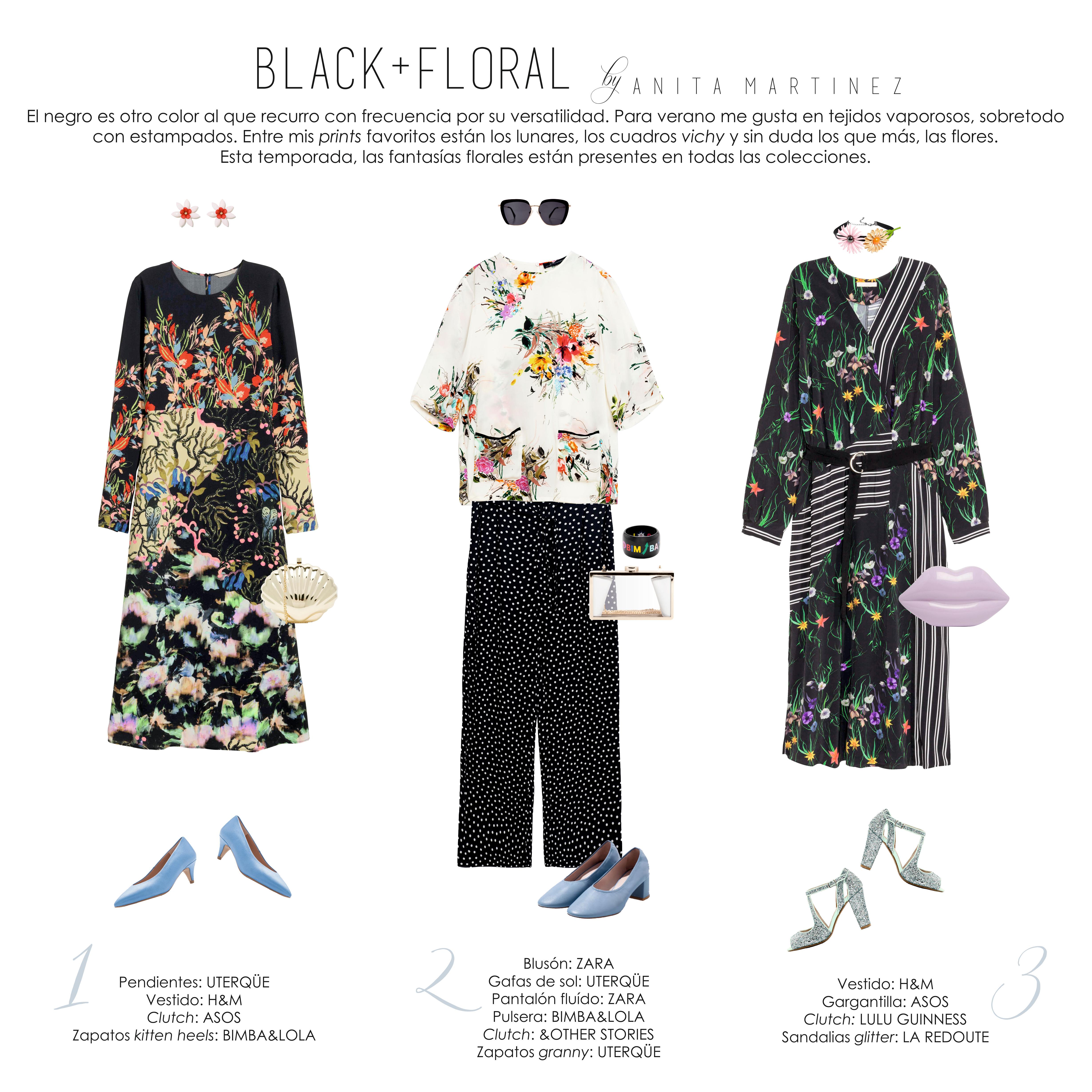 BLACK + FLORAL by ANITA MARTÍNEZ