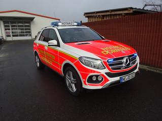 NEF auf Basis Mercedes-Benz GLE für die Feuerwehr der Stadt Dormagen