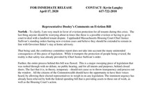 Press Release: Representative Dooley's Comments on Eviction Bill