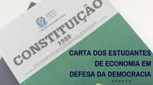 Carta dos Estudantes de Economia em Defesa da Democracia