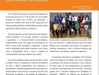 Publicação da Feneco em revista da Cofecon