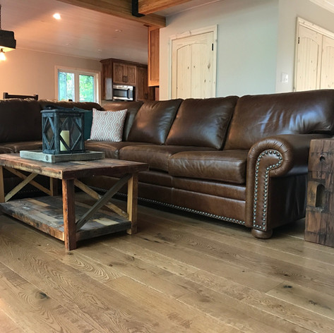 Rustic barn board coffee table
