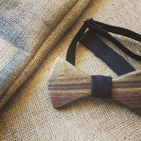 Handmade wooden bowties