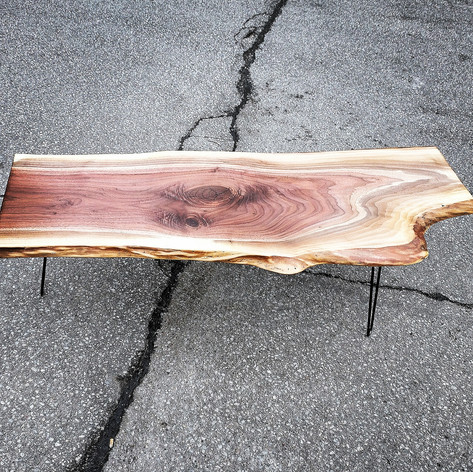 FIgured black walnut coffee table