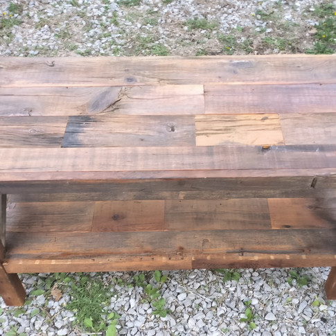Rustic barn board media unit