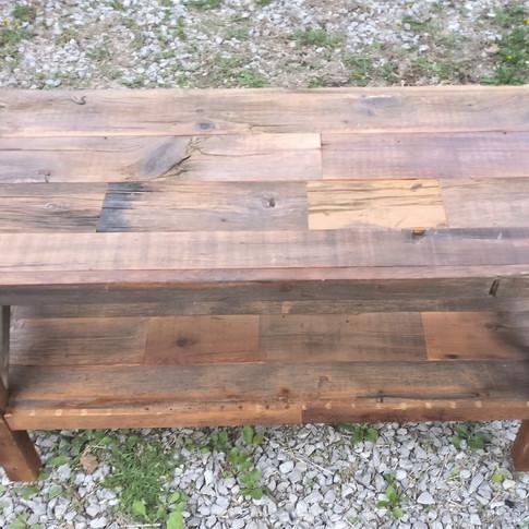 Rustic barn board media unit