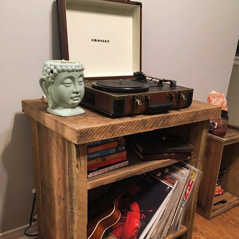 Barn board media unit