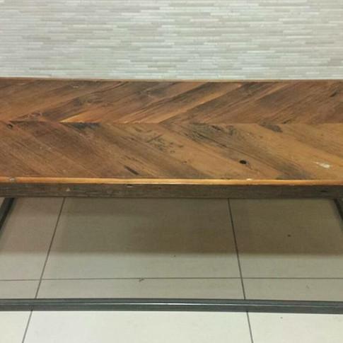 Rustic barn board coffee table