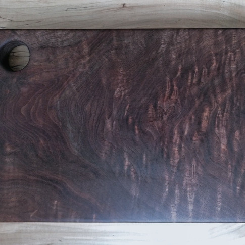 Figured Black walnut cutting board