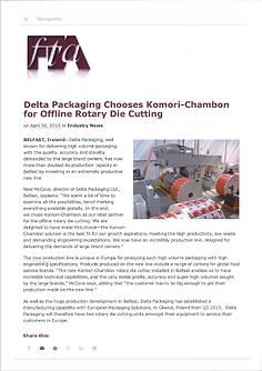 Komori-Chambon in the industry news