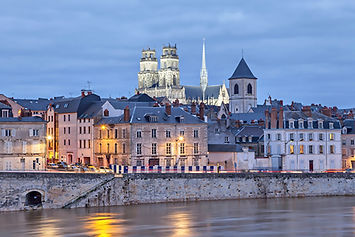 Orleans by night, France