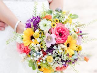 Environmentally friendly wedding flowers