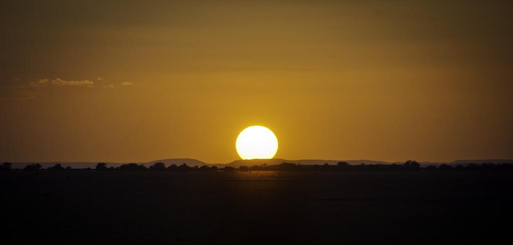 Coucher de soleil dans le Grand Bara