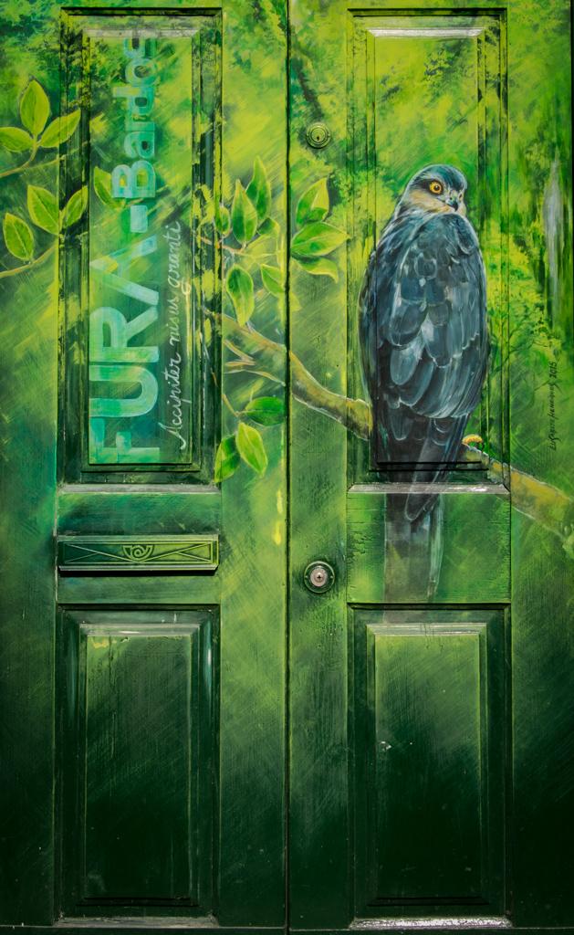 Porte peinte dans la vieille ville