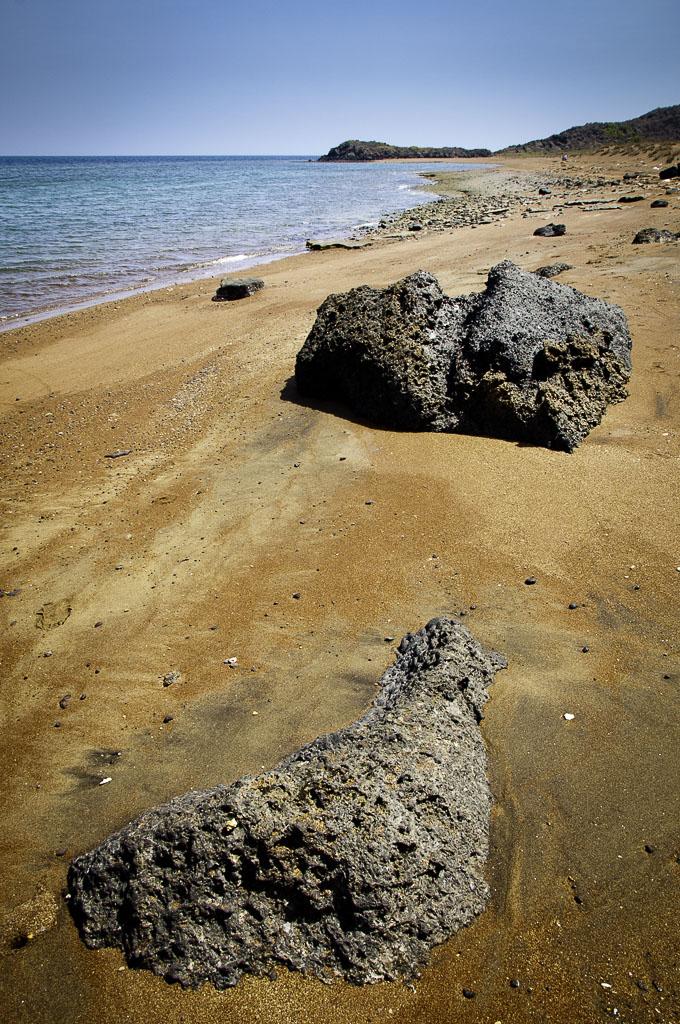 Plage des sables rouges