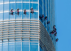 Laveurs de vitre sur la Burj Khalifa
