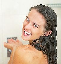 Enjoying a warm shower
