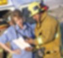 Fireman and ambulance driver